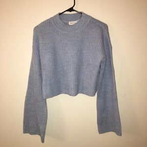 Lovers + Friends Cropped Sweater in Baby Blue
